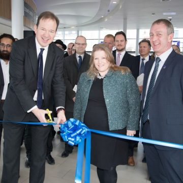 Transport Minister Jesse Norman officially opens the Hard Interchange Portsmouth