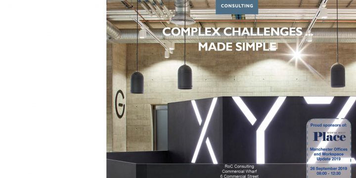 RoC Consulting Sponsors PlaceNW Manchester Offices and Workspace Update - 26 September 2019