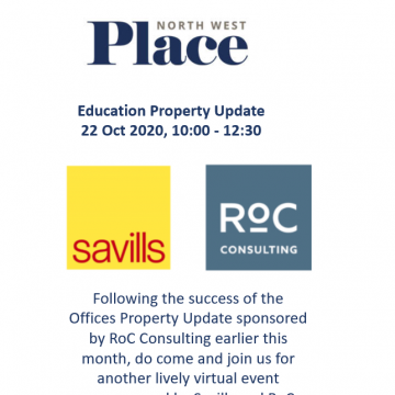 PlaceNW Education Update - sponsored by RoC Consulting and Savills